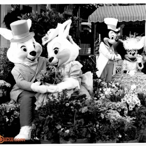 Mr-Mrs-Easter-Bunny-Mickey-Minnie-1990-Parade