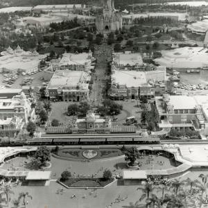 B&W Aerial Photo of Magic Kingdom