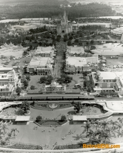 B&W Aerial Photo of Magic Kingdom