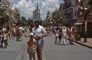 Kid-and-Dad-on-Main-St-w-Castle-August-1983