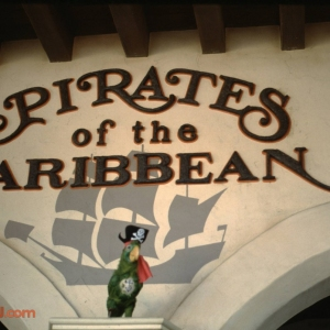 Pirates of the Caribbean entry sign