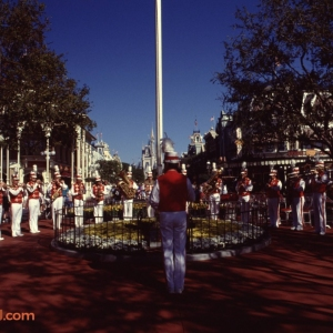 Main Street USA Flag Lowering Ceremony
