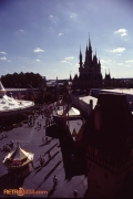 View across Fantasyland to Castle from the Skyway 1992