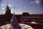 Fantasyland seen from the Skyway