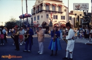 Saxophone Ensemble in Front of Mickey's of Hollywood in December 1989
