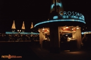 Base of Crossroads of the World at Night in December 1989