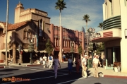 Corner of Hollywood Blvd. and Vine St. in December 1989