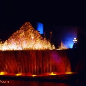 Imagination Fountain at Night 1982