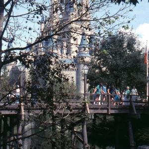 Cinderella Castle & Bridge 1982