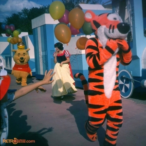 Pooh Tigger and Snow White Tencennial Parade 1982