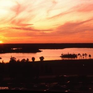 Seven Seas Lagoon Sunset 1982