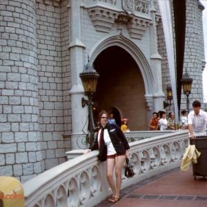 Posing on the Castle Ramp