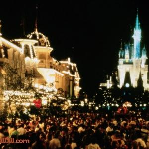 Main Street USA at Night