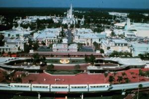 Magic Kingdom Entrance Aerial