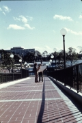 Magic Kindgom Station Monorail Ramp with view of the Contemporary