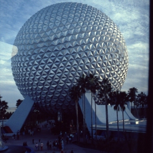 View of Spaceship Earth from the Monorail