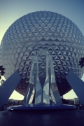 Perfect Shot of Spaceship Earth and Fountain