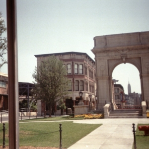 Washington Square Arch on the Backlot Studio Tour