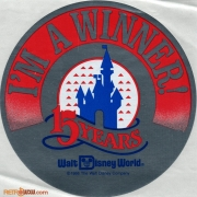 WDW 15th Anniversary Winner Sticker