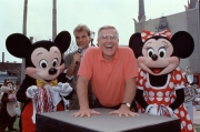 Jerry Van Dyke handprint ceremony with Mickey and Minnie