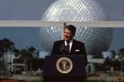 President Ronald Reagan at EPCOT