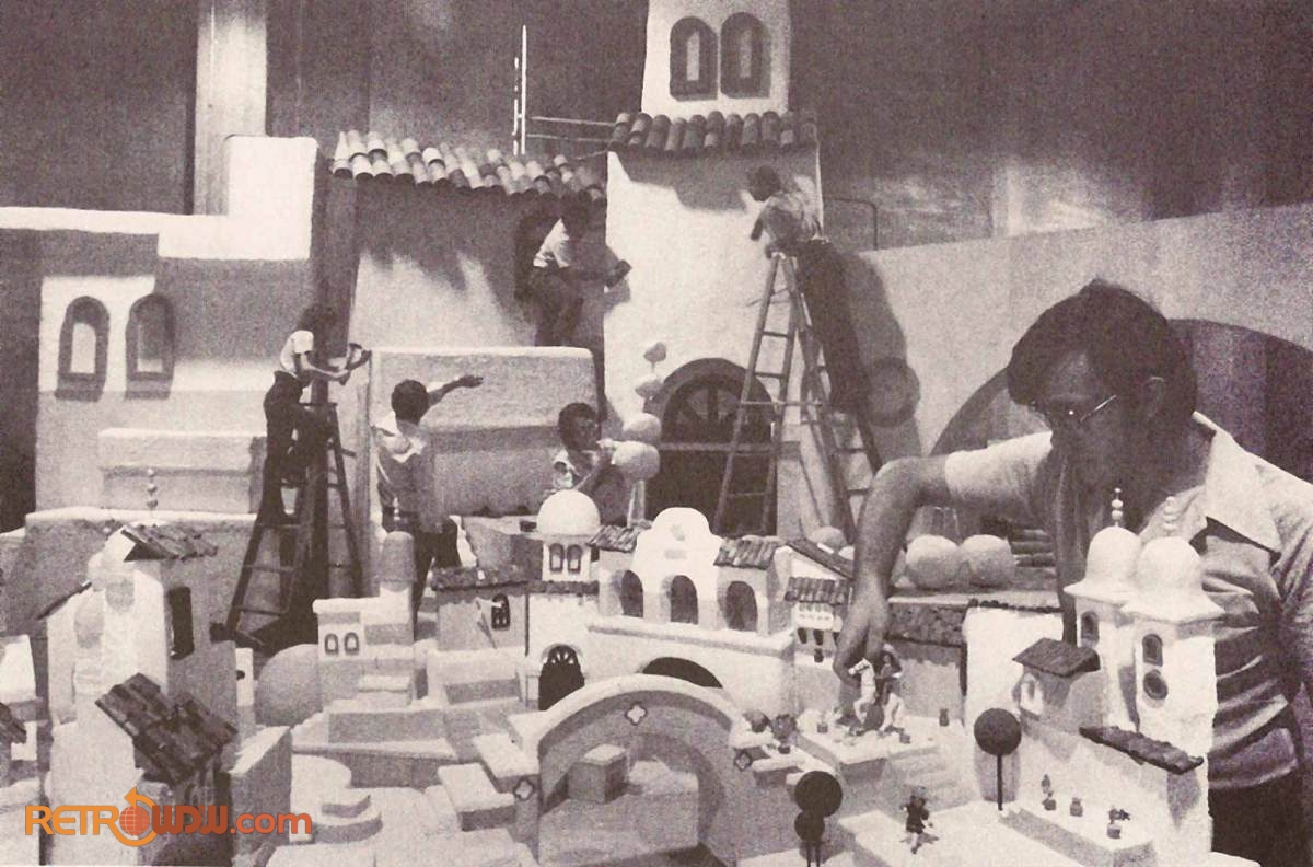 Mexico Pavilion Imagineering Model Being Used as A Reference While Building The Attraction