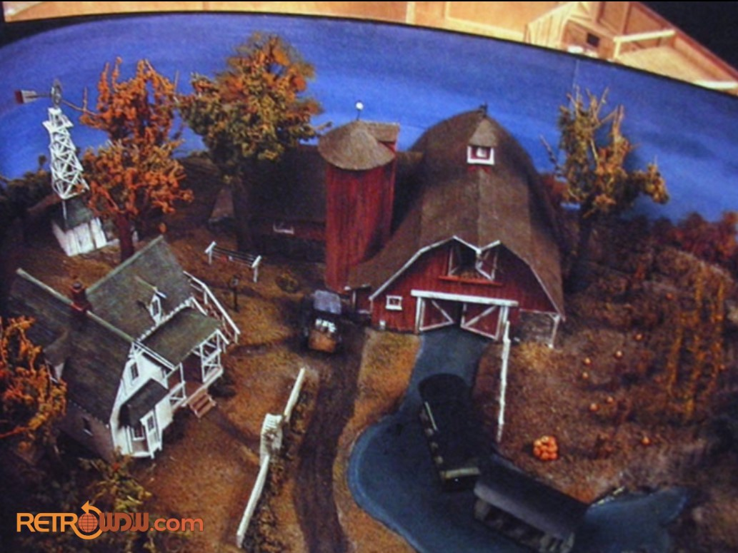 Imagineering Model of the Farm Scene in the Listen to the Land