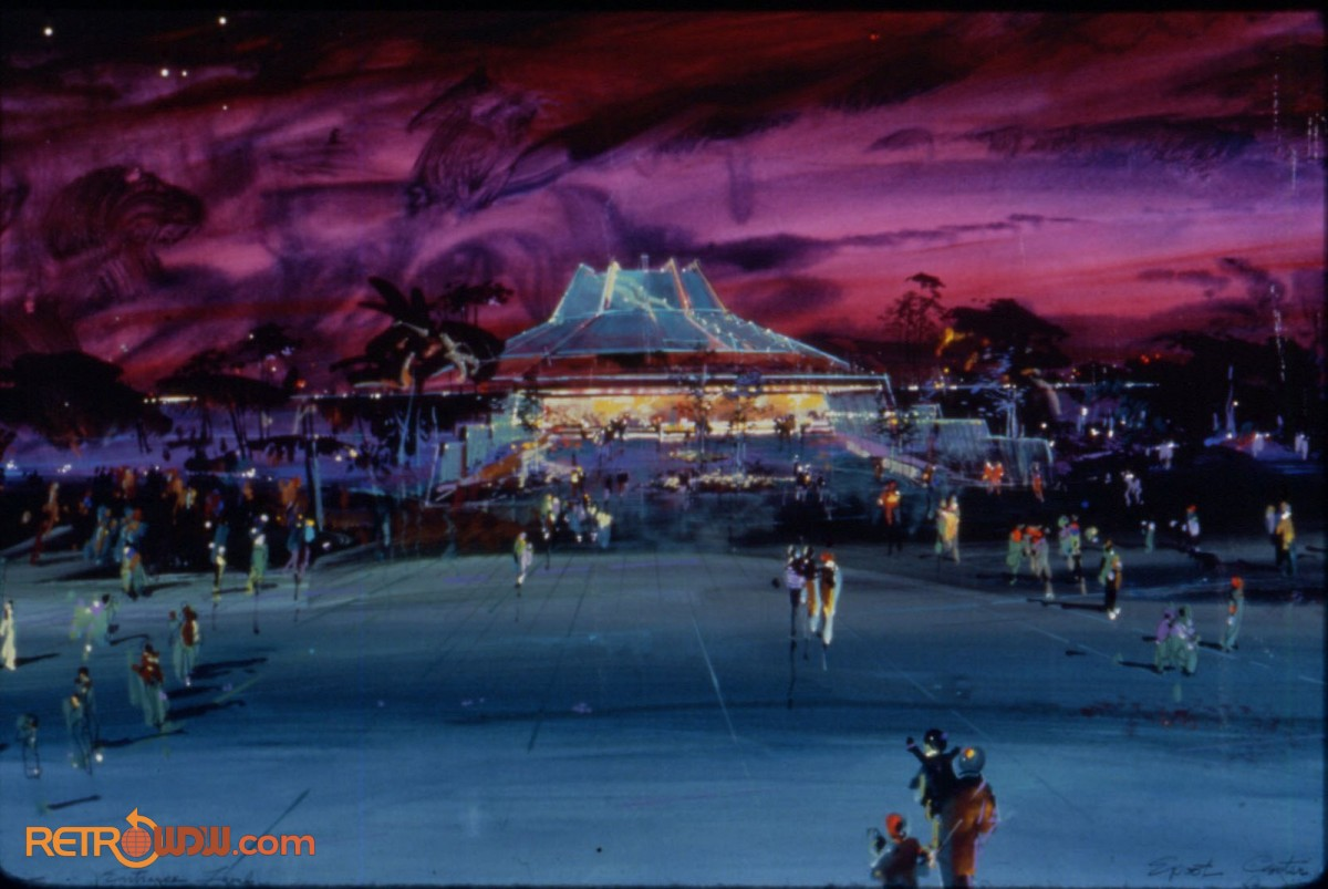 The Land Pavilion External Concept Art (Night & Distant)