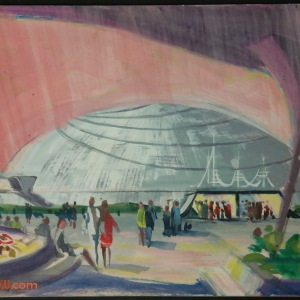 Space Mountain Original Concept Painting - Clem hall