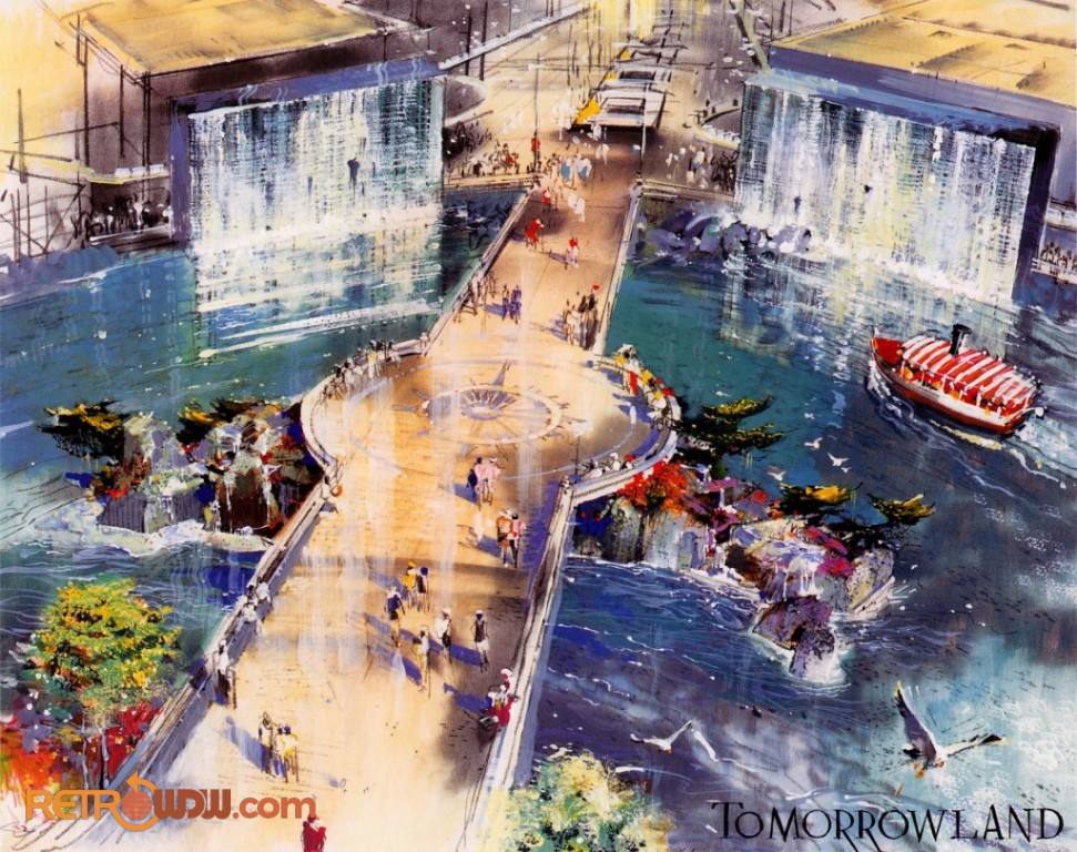 Tomorrowland Entrance Concept by Herb Ryman