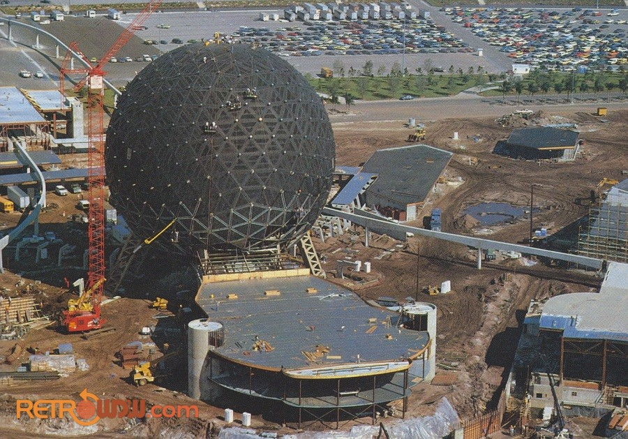 Spaceship Earth Construction Gallery Retrowdw