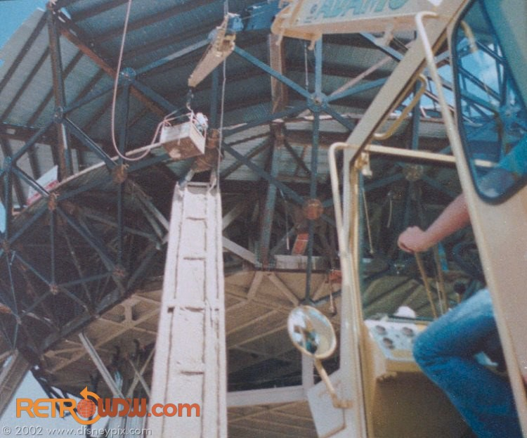 Spaceship Earth platform being worked on