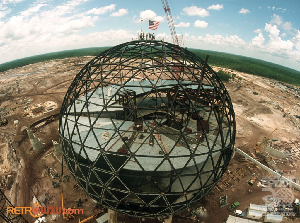 Spaceship Earth topping ceremony. 1980