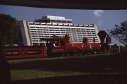 Stream Train passing by the Contemporary Resort