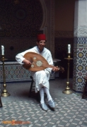 Musician at the Morocco Pavilion