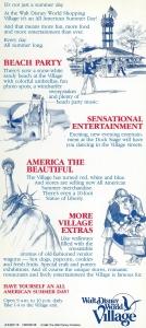 Disney Village All American Summer '86 Back