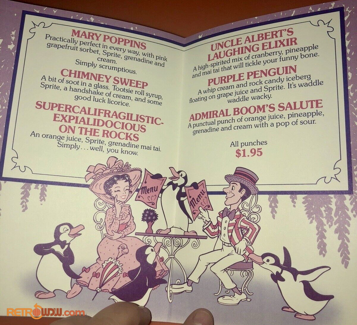 1900 Park Faire Childrens Drink Menu (1989)