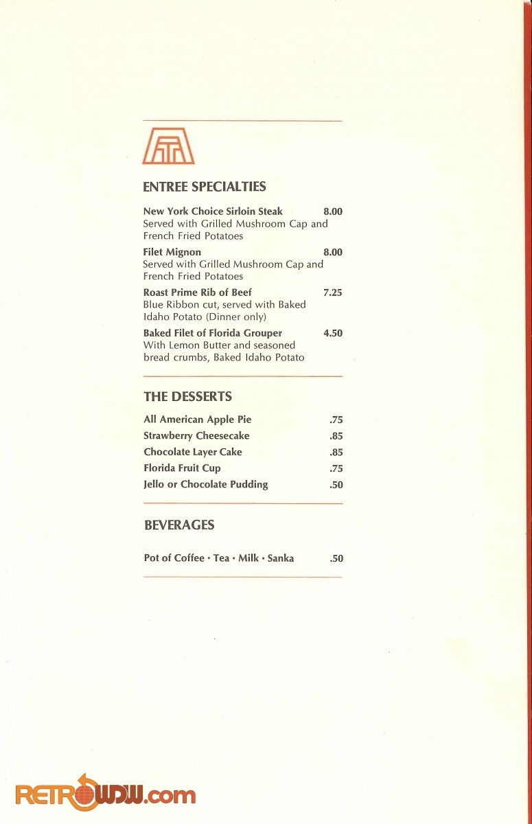 Contemporary Room Service Menu (May 1979) - Page 3