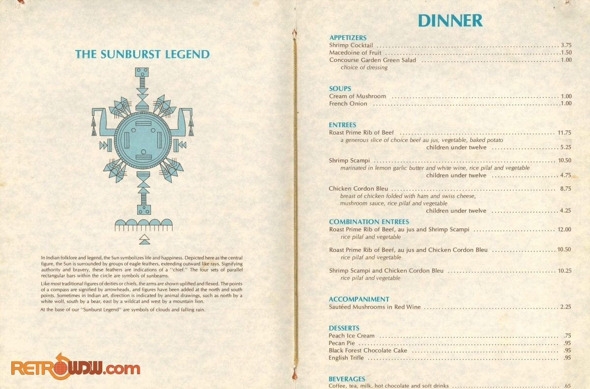 Outer Rim Lounge Menu - 1980