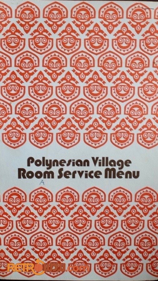 Polynesian Village Room Services Menu (cover)