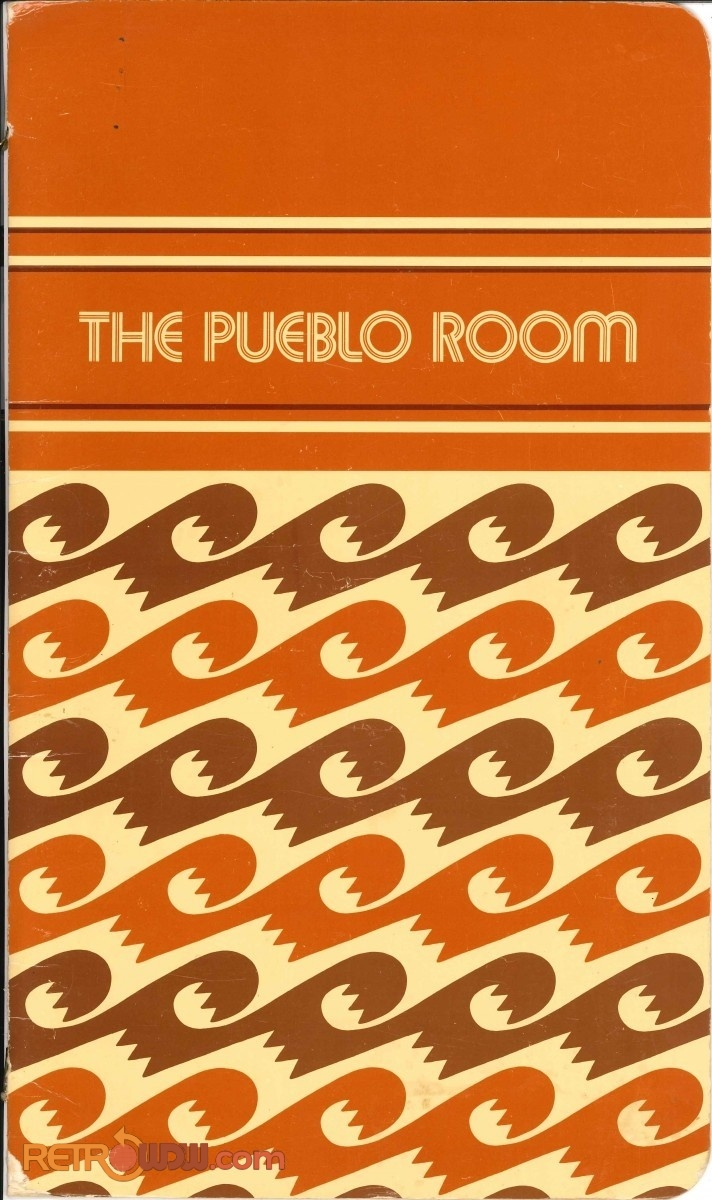 The Pueblo Room Menu (Front Cover) - Early '80s