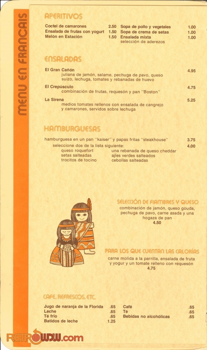 The Pueblo Room Menu - Early '80s - Page 6