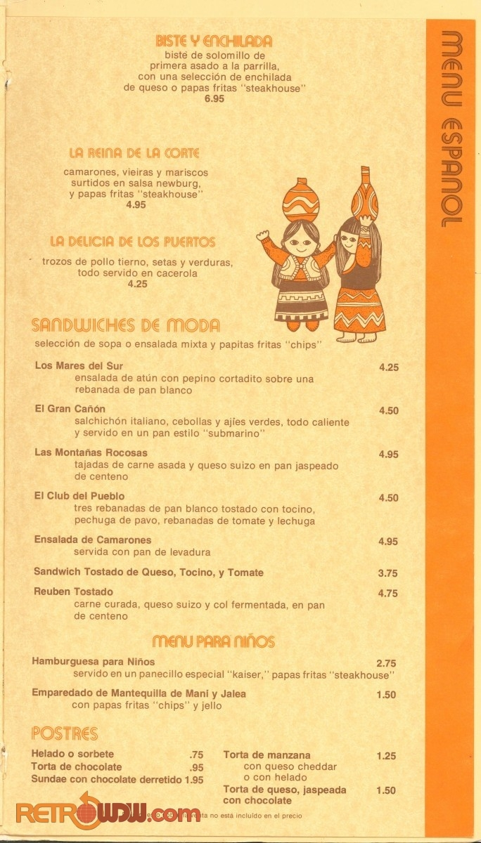 The Pueblo Room Menu - Early '80s - Page 7