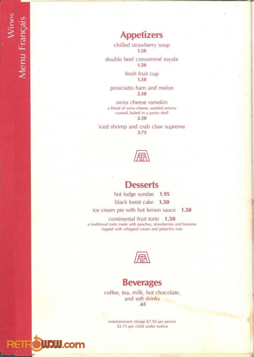 Top of the World Menu - 1980 - Page 2