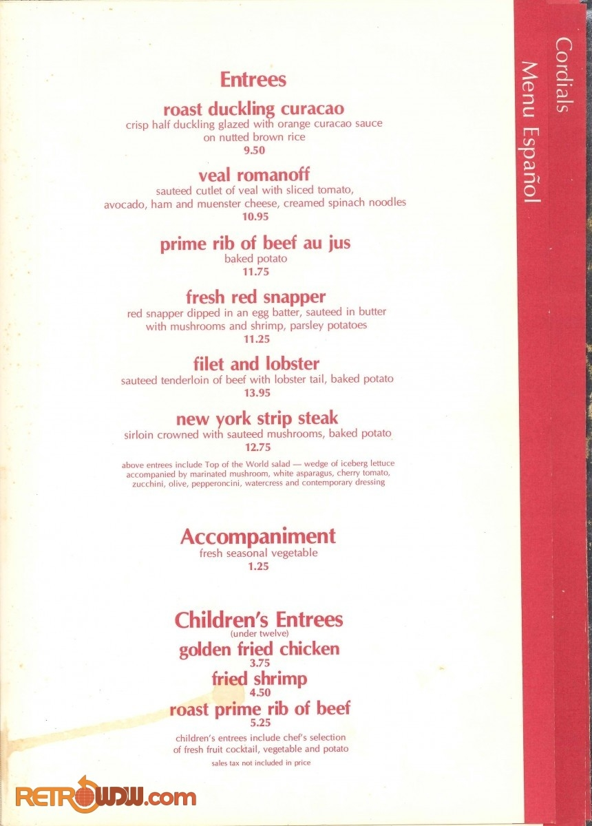 Top of the World Menu - 1980 - Page 3