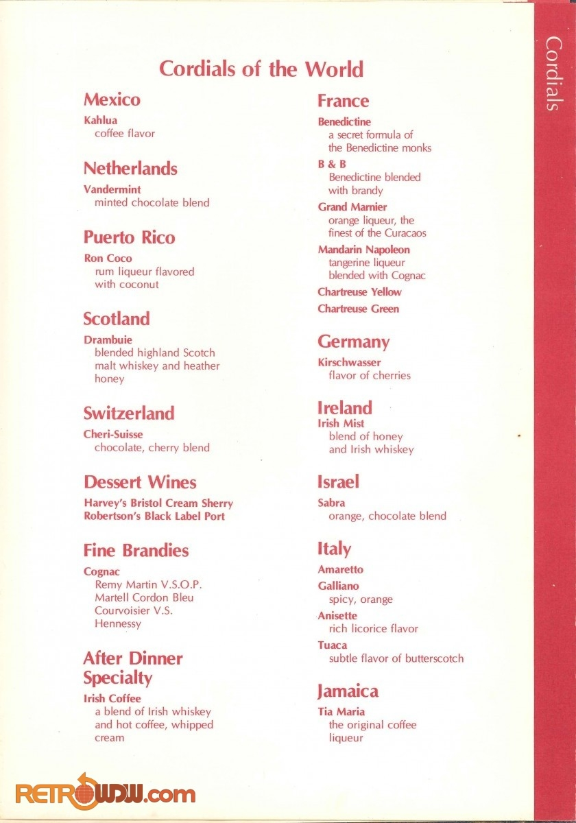 Top of the World Menu - 1980 - Page 4