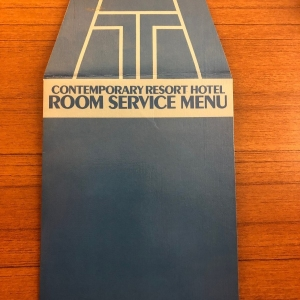 Contemporary Room Service Menu - Front