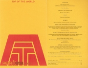 Top of the World Menu - 1971