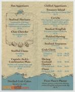 Captain Jack's Oyster Bar Menu