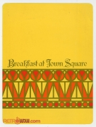 1982 Breakfast at Town Square Menu (Cover)